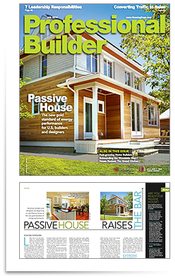 Professional  Builder July 2013 Feature Article is on Steven's Passive House Design in Falmouth Mass.